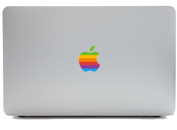 macbook apple rainbow